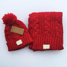 White Scarves Wholesale Canada - Hot fashion brand yojojo men and women winter high quality warm scarf hat suit full knit hat warm