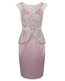 $enCountryForm.capitalKeyWord NZ - V Neck Knee Length Mother of the Bride Dresses with Rose Lace Sequins for Wedding Party Mother of the groom Dresses