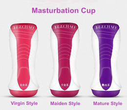 Discount pussy vagina virgin 3 Styles Masturbation Cup MINI Vagina Pocket Tight Pussy Realistic Vagina Virgin Maiden Mature Series Cup Adult Masturbator Toys For Men
