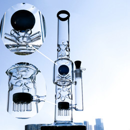 Discount pipe bong tube - Straight Tube Bong 15 Inch Tall Glass Bongs With Octopus And Sprinkler Percolator Big Water Pipes Waterpipe Unique Dab O