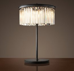 Discount shop for beds - Crystal Table Lamp Vintage Good Quality Desk Light Fixture For Home Decoration Hotel Shopping Mall Bedroom Table Lamp La