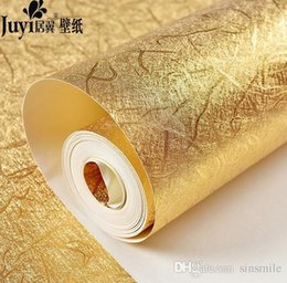 embossed foil paper 2019 - Wholesale- Buy 5 GET 1 gold glitter wallpaper embossed ceiling murals wallpaper shining cheap embossed foil paper
