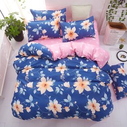Discount tree king size bedding sets - Floral Star Tree Checked Bedding Set Single Double Queen King Size Duvet Cover Quilt Cover Flat Sheet Pillow Cases 3pcs