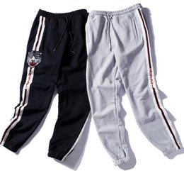 Großhandel New Preppy Love Legging Hosen Brief Drucken mit Side Striped Jogger Track Hosen Legging Hosen elastische Taille Casual Jogger Kleidung