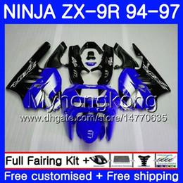 $enCountryForm.capitalKeyWord Australia - Body For KAWASAKI NINJA ZX900 ZX 9R Factory blue hot 1994 1995 1996 1997 221HM.45 ZX 9 R 900 900CC ZX-9R 94 97 ZX9R 94 95 96 97 Fairing kit