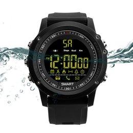 Повышение! Bluetooth Smartwatch EX17 длительным временем ожидания смарт-часы браслет IP67 водонепроницаемый плавать фитнес-трекер спортивные часы для IOS Android