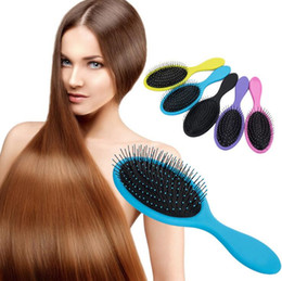 wholesale wet hair comb Australia - 2017 Wet & Dry Hair Brush Hair Detangler Brush Massage Comb With Airbags Combs For Wet Hair Shower Brush B537