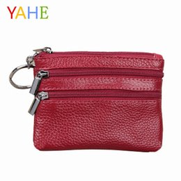 Wholesale YaHe Small Women Leather Coin Purses Mini Female Coin Wallets with Zip Bag for Key Card Change Pouch Hand Bags for Women