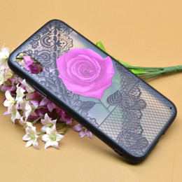 Iphone Plus Case Floral NZ - 2018 Sexy Floral Phone Case For Apple iPhone 7 6 6s Plus Lace Flower Hard PC+TPU Cases Back Cover For iPhone X 8 Plus
