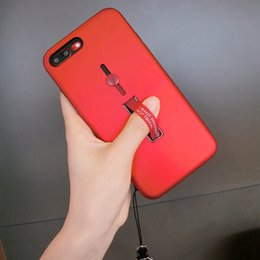Hot Sales Iphone Case NZ - Fashion Brand Phone Case for IPhone X 6 6S 6plus 6S Plus 7 8 7plus 8plus New Designer Phone Case with Anti-fall Lanyard Hot Sale 2 Color