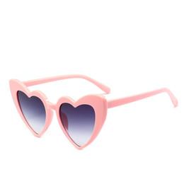 beff87e16580 Pink Reflective Sunglasses UK - 2018 New Fashion Heart Shaped Sunglasses  Women Hot designer Plastic Reflective