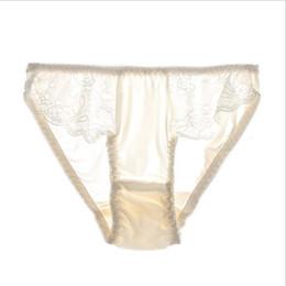 71d92107cc67 100% Pure Silk Seamless Panties M L XL Sexy Briefs Women Underwear Briefs  Panties for Girls Ladies Bikini Panty Mid-Rise