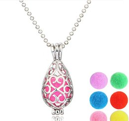 Perfumes Gift Australia - Locket Necklace Open Aromatherapy Locket Essential Oil Diffuser Perfume Aromatherapy Teardrop Shape Lockets Necklace For Women Gifts 2087