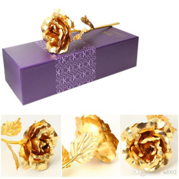 artificial valentines gifts UK - Gold Foil Plated Artificial Rose For Mother Day Wedding Decorations Party Favor Valentine Gift Naked Fake Flower Multi Color New 2 8ad ZZ