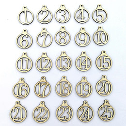 $enCountryForm.capitalKeyWord Australia - Wooden Number Ornaments Gift Wraps Hanging Decoration 1 to 25 Numbers in Wooden Circle Christmas Final Countdown Wood Crafts