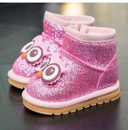 Venta al por mayor de Zapatos de invierno para bebés, bebés de 1 a 3 años, niños y niñas, botas de nieve preciosas.
