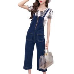 ce61ef7039b Strap Overalls Wide Leg Denim Pants Women 2018 Fashion High Waist Loose  Woman Classic Jeans with zipper student jeans feminino