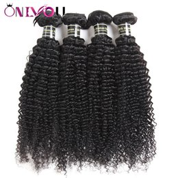 Peruvian indian brazilian hair weave factory online shopping - Onlyou Hair Products Bundles Raw Indian Kinky Curly Virgin Human Hair Extensions Peruvian Curly Remy Hair Weaves Bundles Factory Deals