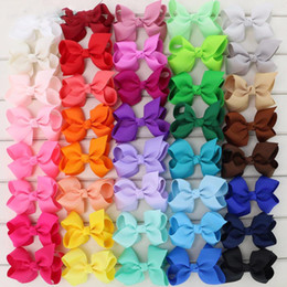 $enCountryForm.capitalKeyWord NZ - Babymatch 40pcs 3 .3 ' ;' ;Hair Bows Grosgrain Ribbon Bow With Alligator Hair Clips Boutique Bows Baby Children Hair Accessories