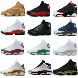 Discount white man sneakers - Wholesale High Quality Cheap 13 13s Men Basketball Shoes Women Bred Black Red Brown White Hologram Flints Grey Sports Sn
