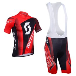 Discount maillot bib - 2018 Men's Cycling Jersey SCOTT Maillot Ciclismo Bike Short Sleeve ( Bib ) Shorts Kits Summer Breathable Outdoor Sp