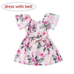 74c8a20cc2f cute summer dresses belts 2019 - ins spring summer floral dress with belt  baby girl clothes