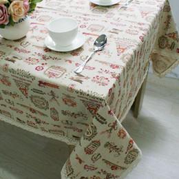 $enCountryForm.capitalKeyWord NZ - Christmas Theme Linen Table Cloth with Lace Reindeer Print Multifunctional Tablecloths Table Cover X'mas Decor ZB-17
