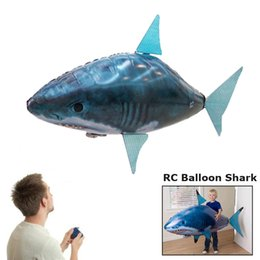 Discount inflatable orange - 1PCS Remote Control Flying Air Shark Toy Clown Fish Balloons Inflatable With Helium Fish plane RC Helicopter Robot Gift