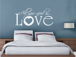 $enCountryForm.capitalKeyWord Australia - All You Need is Love Wall Sticker Quote Love Wall Art Decal Song Lyric Bedroom Decoration Accessories