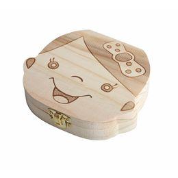$enCountryForm.capitalKeyWord UK - Wood Baby Girl Boy Tooth Organizer Boxes Save Deciduous Teeth Storage Keepsakes Announcements Collecting Gift Creative