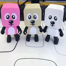 $enCountryForm.capitalKeyWord UK - Hot Sales Portable Wireless Bluetooth Stereo bass Loudspeaker Small Square Dancing Robot Dog Sound Bass Music Speaker 5pcs lot