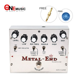 Biyang Effects Pedals Australia - Biyang Tonefancier Metal End King Distortion Electric Guitar Effect Pedal True Bypass Design with Gold Pedal Connector