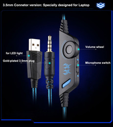 headset mic jack NZ - New Cheap Kotion Each G9000 Gaming Headset Headphone 3.5mm Stereo Jack with Mic LED Light for PS4 Tablet Laptop Cell Phone DHL