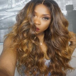 tone hair color lace fronts Australia - 9A Grade Brazilian Hair Wig Two Tone Color #1B #30 Brazilian Deep Wave Full Lace Wig Glueless Lace Front Human Hair Wig