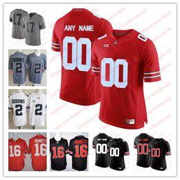 Custom NCAA Ohio State Buckeyes 2 JK Dobbins 7 Dwayne Haskins Jr. 97 Nick  Bosa Jack Tatum 18 Tate Martell College Football Jerseys Men Youth 9038c62c4