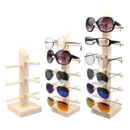 3739ec1e280 2 3 4 5 6 Layers Wood Sunglass Display Rack Shelf Eyeglasses Show Stand  Jewelry Holder for Multi Pairs Glasses Showcases
