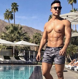 59ae750967f Sexy Men's Swimwear Swimsuits Men Plus Big Size XXL Camouflage Basic  Swimming Surf Beach Long Board Shorts Boxer