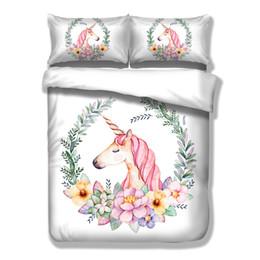 $enCountryForm.capitalKeyWord NZ - Cute Unicorn Bedding Set Cartoon Duvet Cover Twin Full Queen King Size 3pcs Bedclothes New Fashion Hot