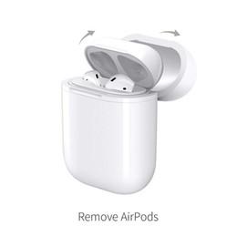 Estuche de carga inalámbrica para Airpods QI Airpods estándar Carga inalámbrica Cubierta del receptor Compatible con cualquier cargador inalámbrico