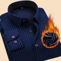 $enCountryForm.capitalKeyWord Canada - Striped Winter Shirt Men 2017 Thick Warm Men's Shirt Long Sleeve Slim Fit Camisa Masculina Casual Button Down Mens Dress Shirts