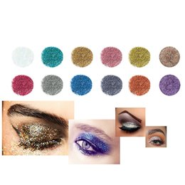 gel eye shadow UK - 12pcs set Glitter Eyeshadow Gel Shimmer Diamond Metallic Power 3D Eyes Makeup Cosmetic Pigment Kit Smoky Eye Shadow Make up Tool