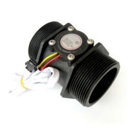 Hall flow sensor online shopping - Freeshipping Water Flow Sensor DN50 V Inch L min Diameter Turbine Flowmeter Hall Sensor Flow Meter Switch Counter