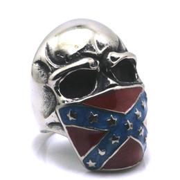 $enCountryForm.capitalKeyWord NZ - Men Boy 316L Stainless Steel Silver Union Symbol Nation National Flag Jack Skull Ring Newest Best Good Gift
