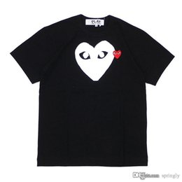 6ebaf3fd2cc 2018 New Fashion COM AAA Quality PLAY Nero bianco cuore des Garcons T-shirt  bianca da uomo Cuore verde Graphic Large Print PLAY Tee