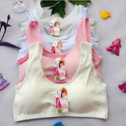 8db0f1f633 Teenage Girl Underwear Solid Bras for Girls Training Bra 100pcs Wireless  Breathable Child Bras Soft Cotton Girls Bra Teenage Underwear
