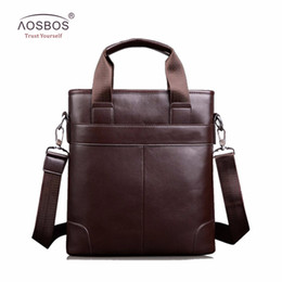bb127d611422 Aosbos PU Leather Men Handbags Male fashion Business Messenger Bag Solid  laptop Shoulder Bag for Males Zipper Briefcase Totes