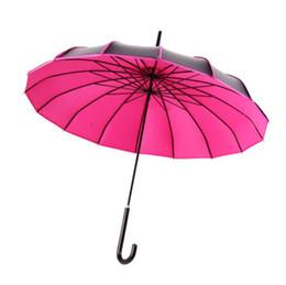 Uv Protection Coating NZ - wholesale hot 10pcs Long-handle UV Protection Black Coating Pagoda Umbrella Sunny & Rainy Ladies Umbrellas Photography Props
