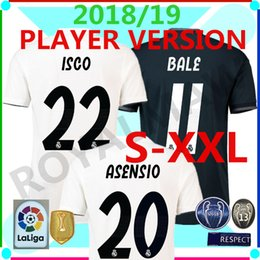 a37e5b38815 Real Madrid Authentic Shirt 2018-19 Home Player Version Away Soccer Jersey  Match Game Football T-shirt 1ª EQUIPACIÓN 2ª Camiseta Equipacion