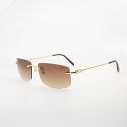 Homens de óculos de sol sem aro do vintage limpar óculos de armação de óculos de luxo shades moda eyewear oculos gafas para a condução da pesca 011 venda por atacado