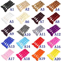Xpression braids wholesale online shopping - Color Synthetic Jumbo Braiding Hair Kanekalon Xpression Braiding Hair Extensions High Temperature Fiber Crochet Twist Hair Inch g
